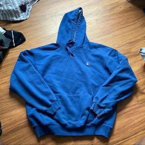 Vintage blue champion hoodie